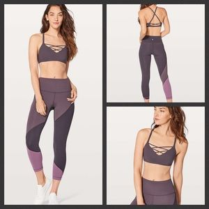 Lululemon Laced With Intent Bra Cherry 10